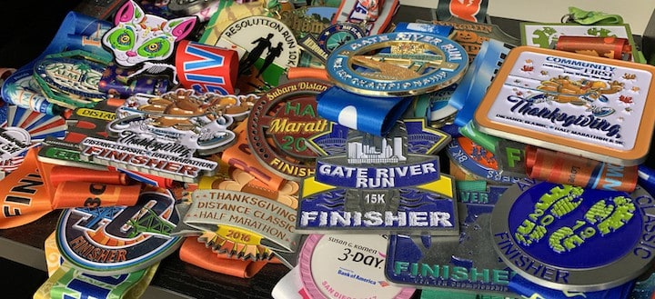 Jans running Medals
